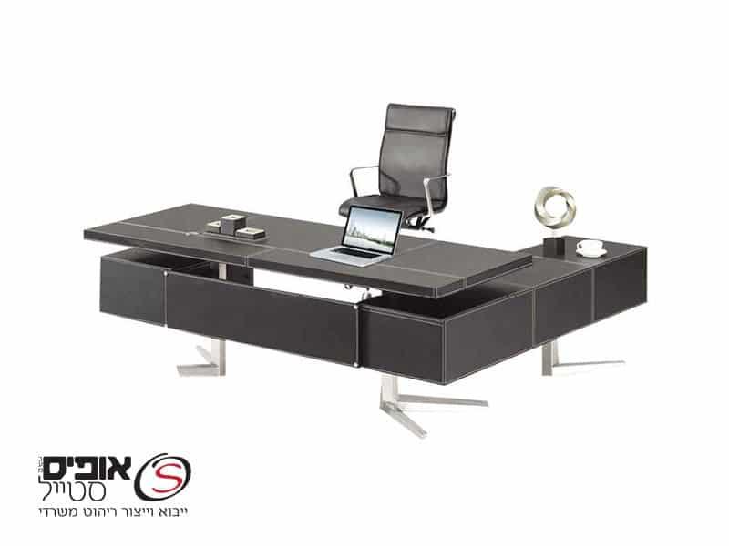 שולחן מנהלים  דמוי עור טוסקנה