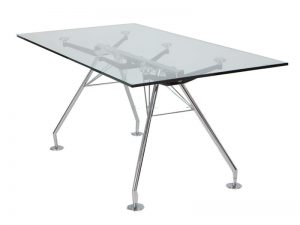 שולחן ישיבות עם טופ זכוכית