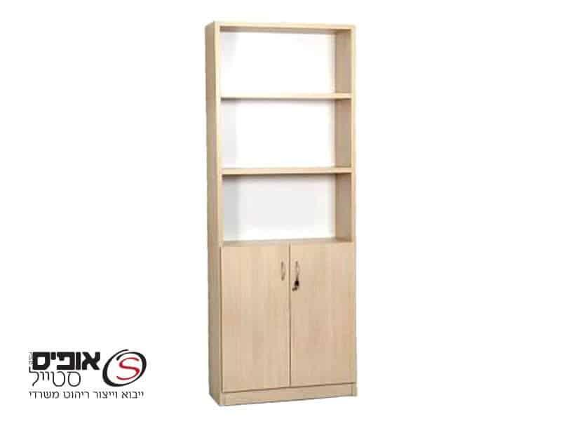 ארון משרדי משולב חצי דלתות חצי פתוח דגם שיראל