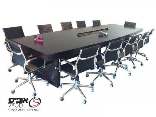 שולחן ישיבות פורניר טבעי 3 מטר