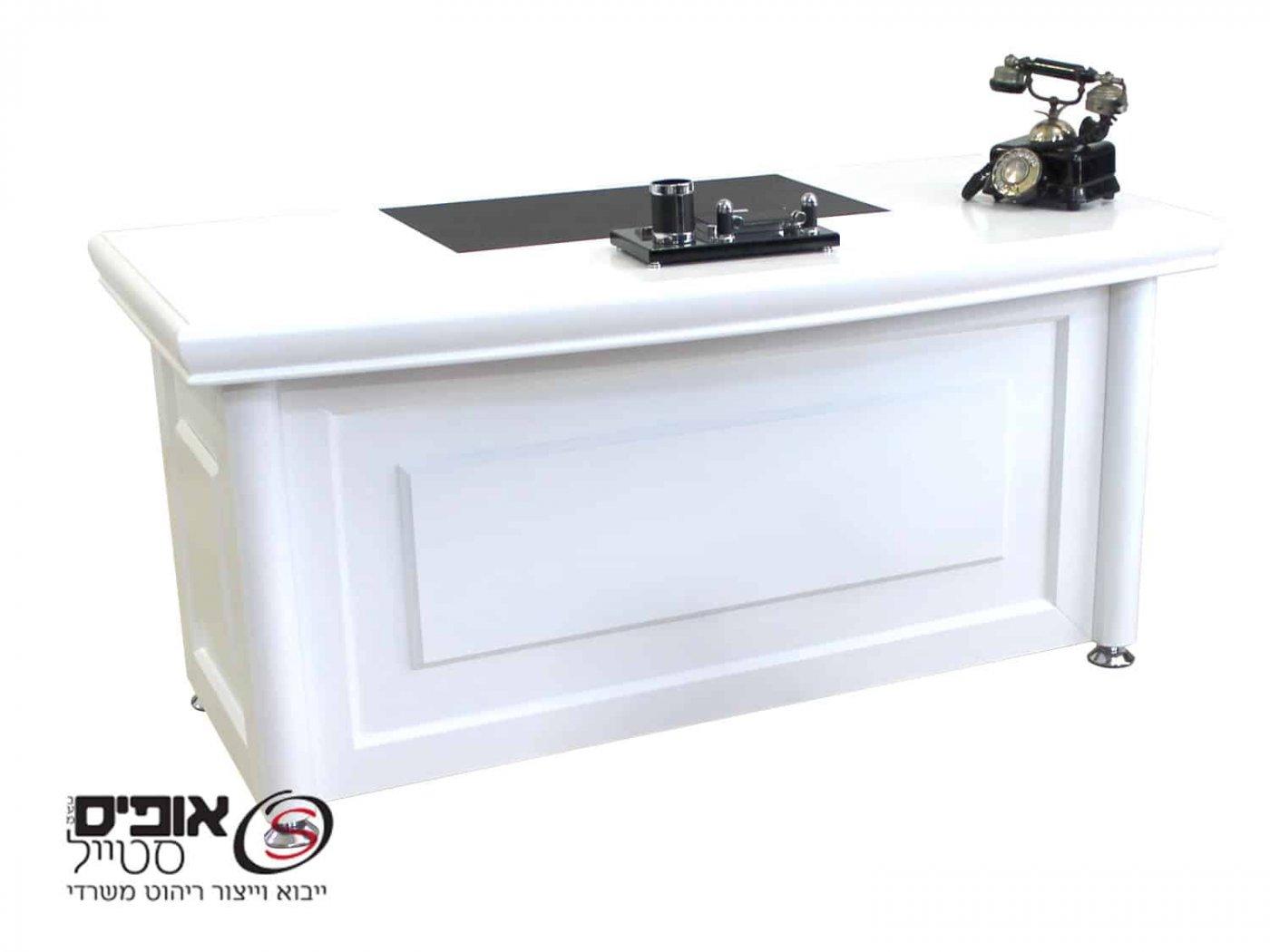 שולחן משרדי פירנצה 1.80 לבן