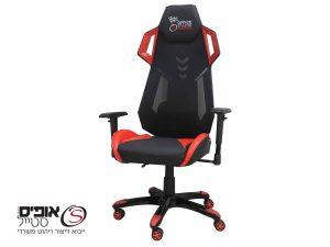 כסא גיימינג דגם סטארטק אדום נוח במיוחד מתכוונן עם כרית תמיכה לגב
