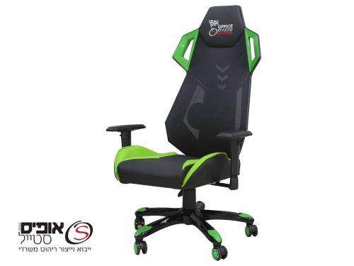 כסאות גיימר דגם סטארטק ירוק מקצועי +ידיות מתכווננות