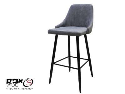 כסא בר אפור