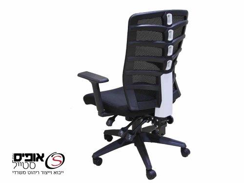 כסא מחשב ארגונומי דגם אלון גוף שחור