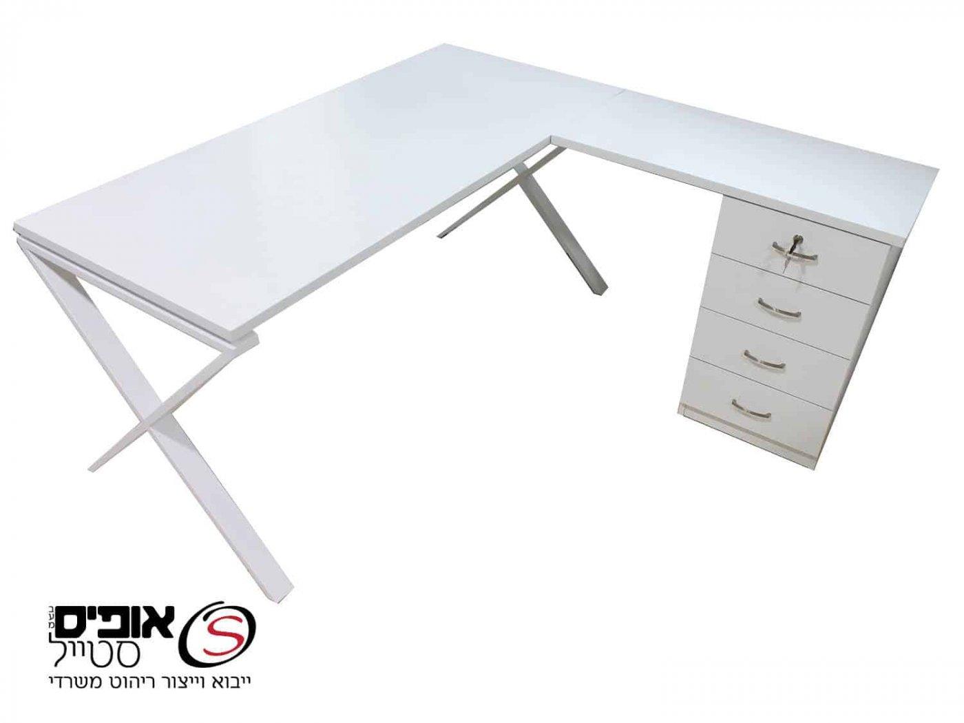 שולחן מנהלים סט שלם רגל X במבצע במידות שונות