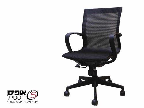 כסא מחשב סטפאן גוף שחור מושב שחור